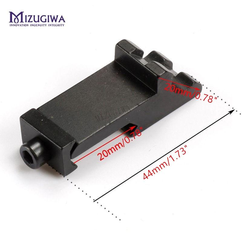 MIZUGIWA Tactical 45 Degree Angle Offset Side Adapter RTS 20mm Picatinny Weaver Laser Sight Scope Rail Mount Hunting Rifle