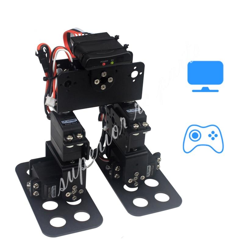 LS 4B diy 4 dof biped walking 휴머노이드 로봇 서보 브래킷 기계식 암 게임 교육용-에서부품 & 액세서리부터 완구 & 취미 의  그룹 1