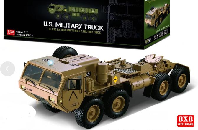 US $299 0 |KTRC 8x8 8wd painted Body conversion kits For 1/10 1/12 scale RC  Rock crawler Military Truck HG Axial SXC10 RC8WD 6X6 RC8WD D90-in Parts &