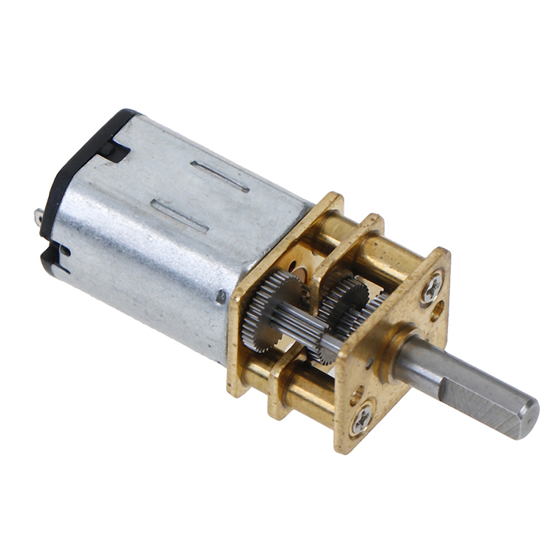 1PC 6V 12V DC Mini Micro Metal Gear Motor With Gearwheel DC Motors 20/30/<font><b>50</b></font>/100/200/300 <font><b>RPM</b></font> Hot Sale image