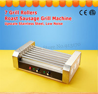 7 Rollers Hot Dog Sausage Cooker Rolling Grill Machine Stainless Steel Home And Commercial Use Low