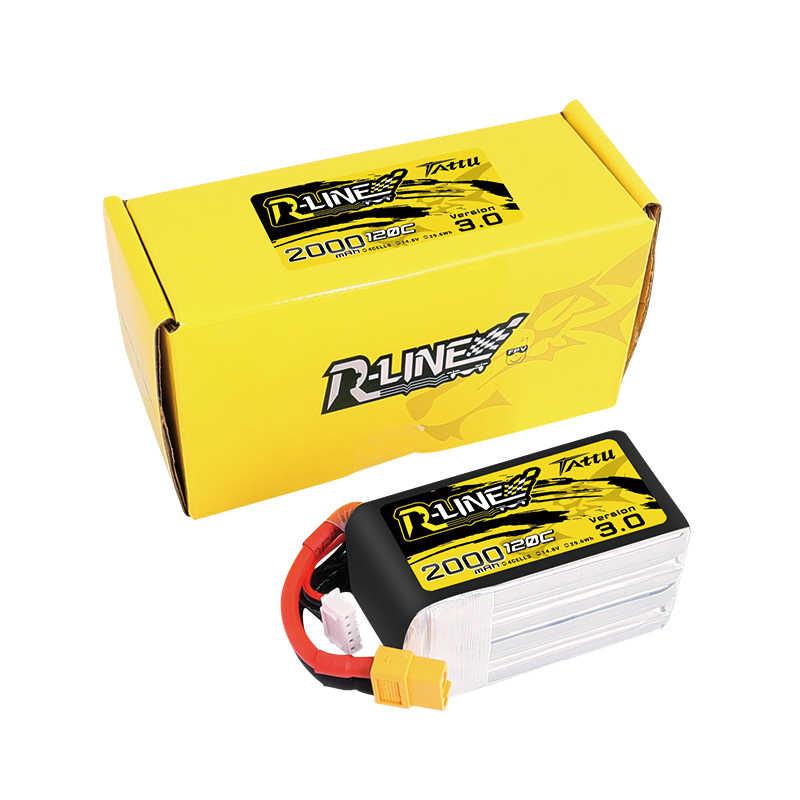 Tattu r-linha rline versão 120c v3 3.0 1300/1550/1800/2000 mah 4S 14.8 v lipo bateria xt60 plug para fpv corrida zangão rc quadcopter