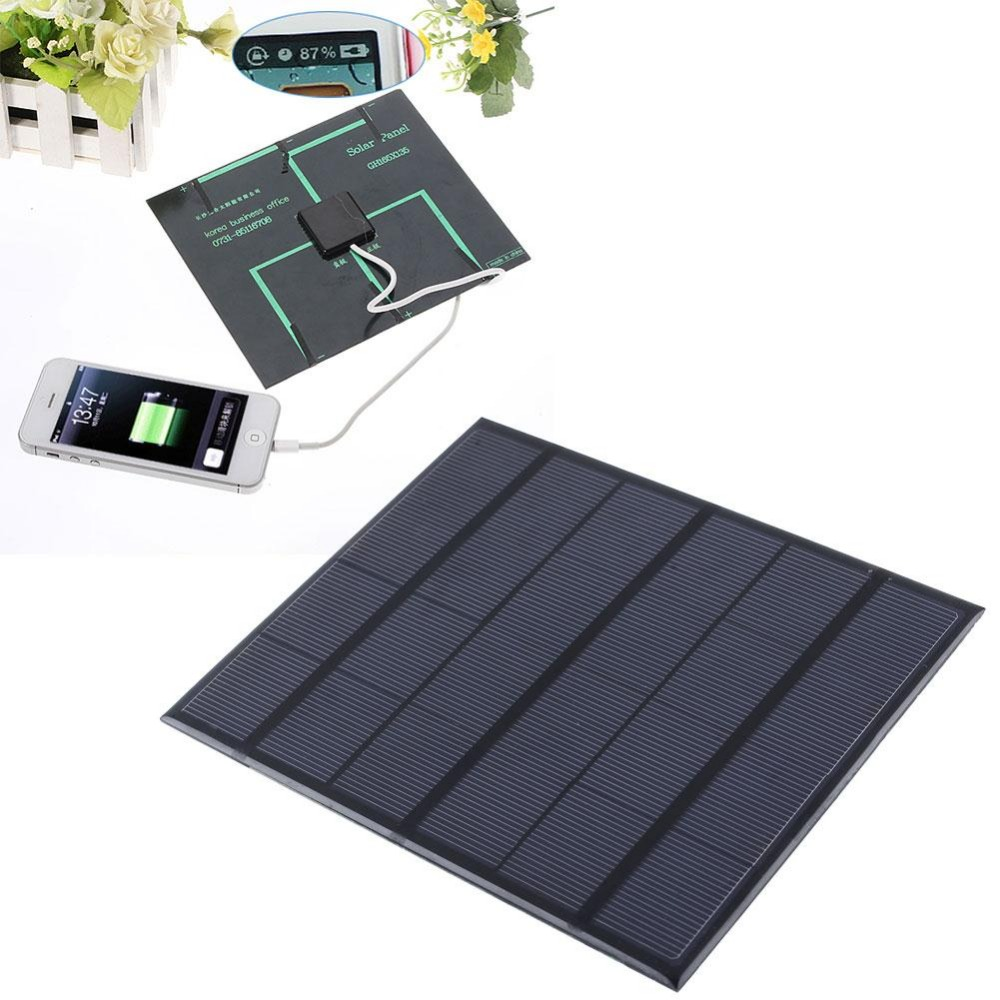 6v 3.5W Camping Outdoor EDC Solar Panel sockets Battery Charger for mobile phone power bank USB Ports efficiency portable China