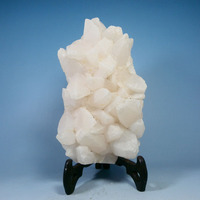 Natural mineral calcite crystal white stone mineral specimens teaching specimens Kistler collection science