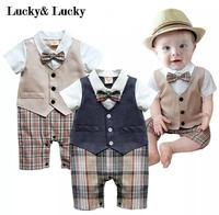 Gentleman Baby New Style Long Sleeve Wedding And Party Baby Boys Clothes Cut Rompers New Born