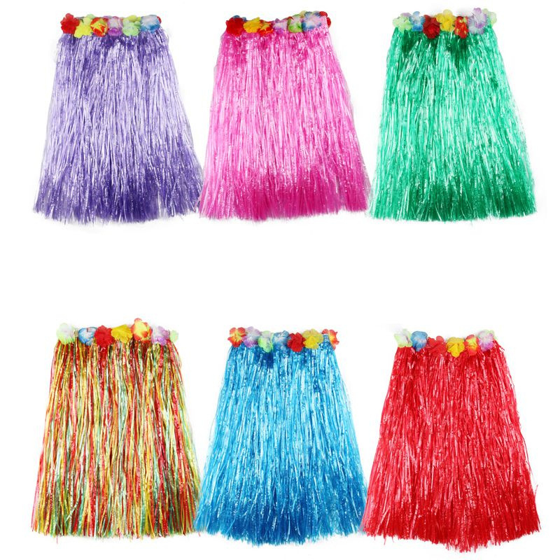 Plastic Fibers girl Grass Skirts Hula Skirt Hawaiian Costumes Ladies Dress Up Festive & Party Supplies Cosplay drees 40