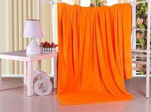 Image 4 - CAMMITEVER Home Textile Sofa Bedding Fleece Blanket Summer Solid Color Blankets Super Soft Warm Flannel Throw On Sofa/Bed/Travel