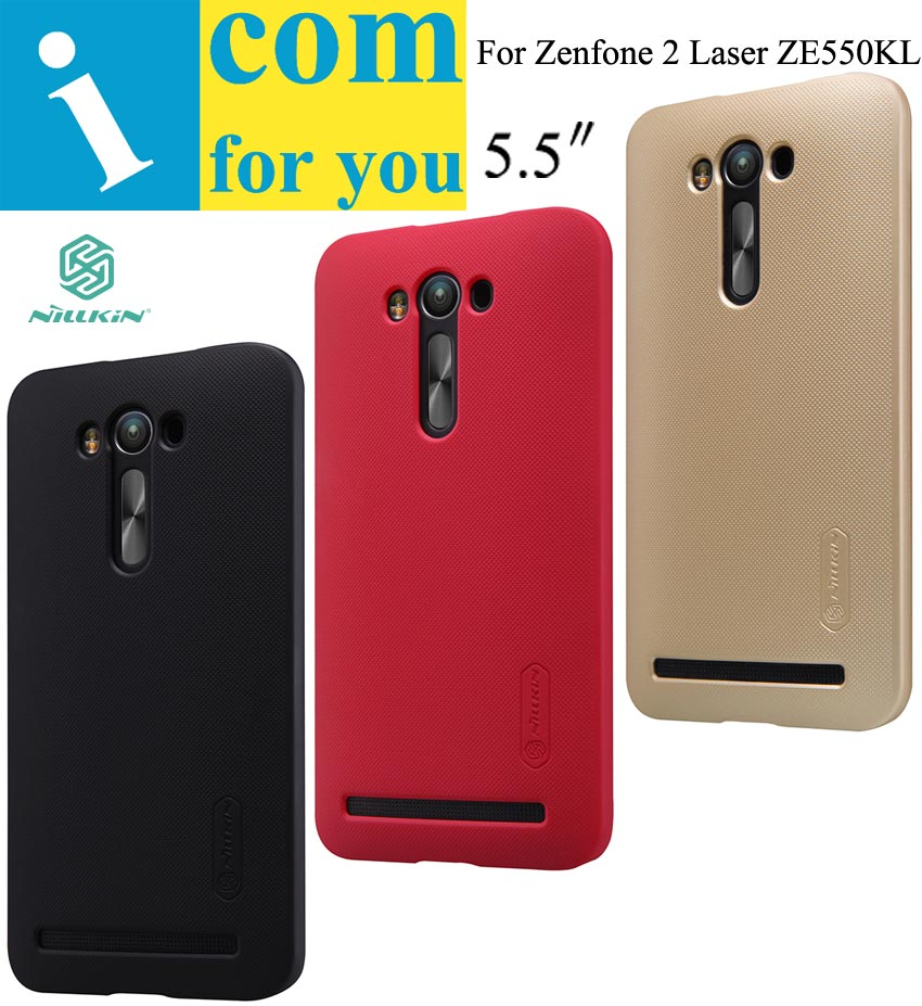 Genuine Nillkin Super Frosted Shield Protector cover case for Asus Zenfone 2 Laser ZE550KL 1pcs Screen film