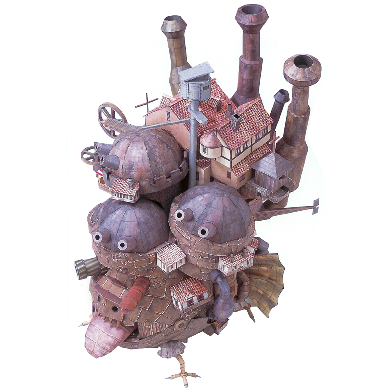 Howls Moving Castle Paper Model Assemble Hand Tall Land Version Work Puzzle Game Boy Girl Gift 50cm