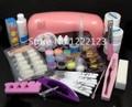 Hot Sale Full 9W UV Gel Lamp Dryer Nail Art Care Acrylic Powder Tips Glitter Polish Set Kit