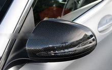 Real Carbon Fiber Side Door Mirror Cover Trim For Benz C-Class W205 2014 2015