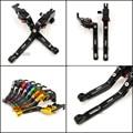 For Kawasaki Ninja 250 300 Ninja250/300 Motorcycle Accessories Adjustable Folding Extendable Brake Clutch Levers Black