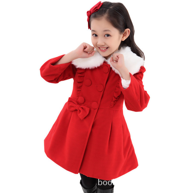 Manufacturers 2015 white boy windbreaker jacket Slim woolen coat explosion models big virgin girls
