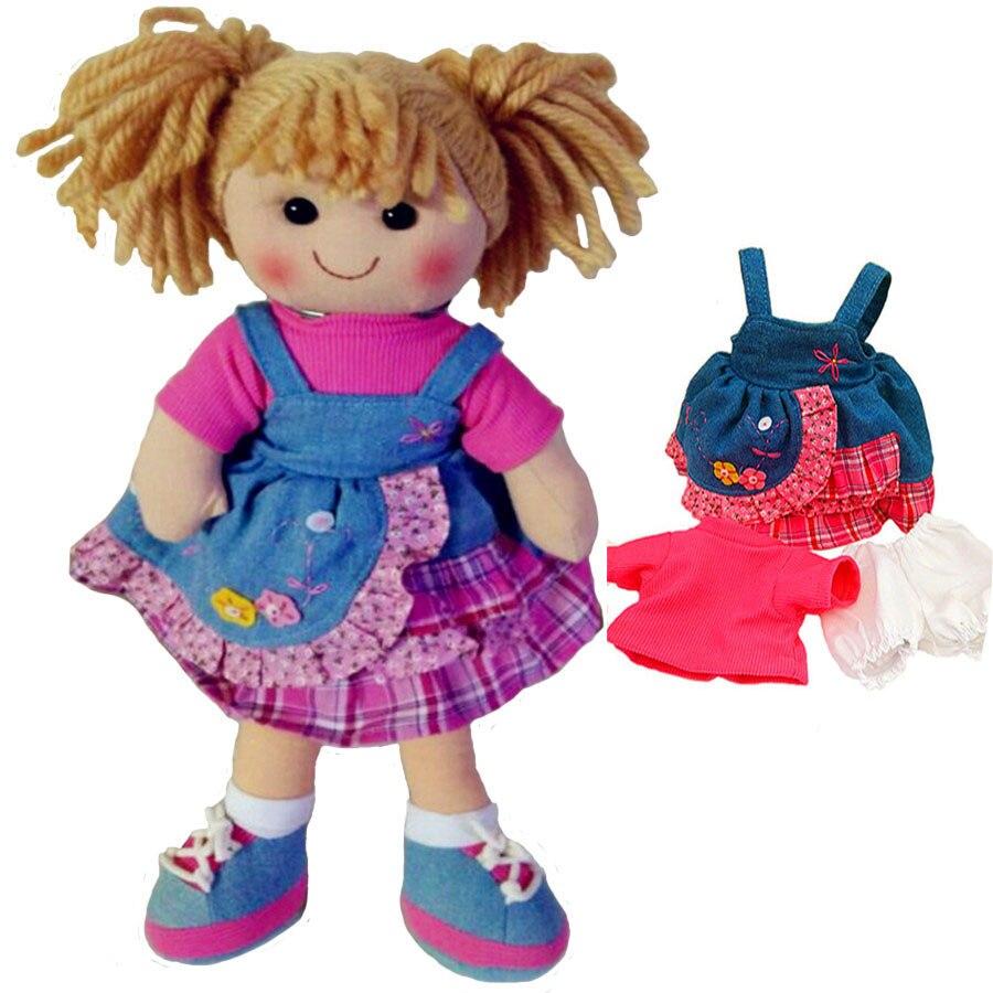 Smafes stuffed soft doll toy for girls fashion rag dolls baby born with cloth high quality