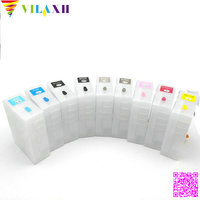 For epson 3880 pro 3880 9pcs T5801 Empty Refillable Ink Cartridge For epson Stylus pro 3880 printer ink with chip