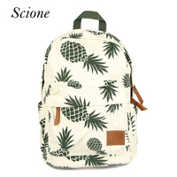 New Designed Backpack Pineapple Printing School Bags For Teenager Girls Casual Outdoor Travel Bag Laptop Rucksack