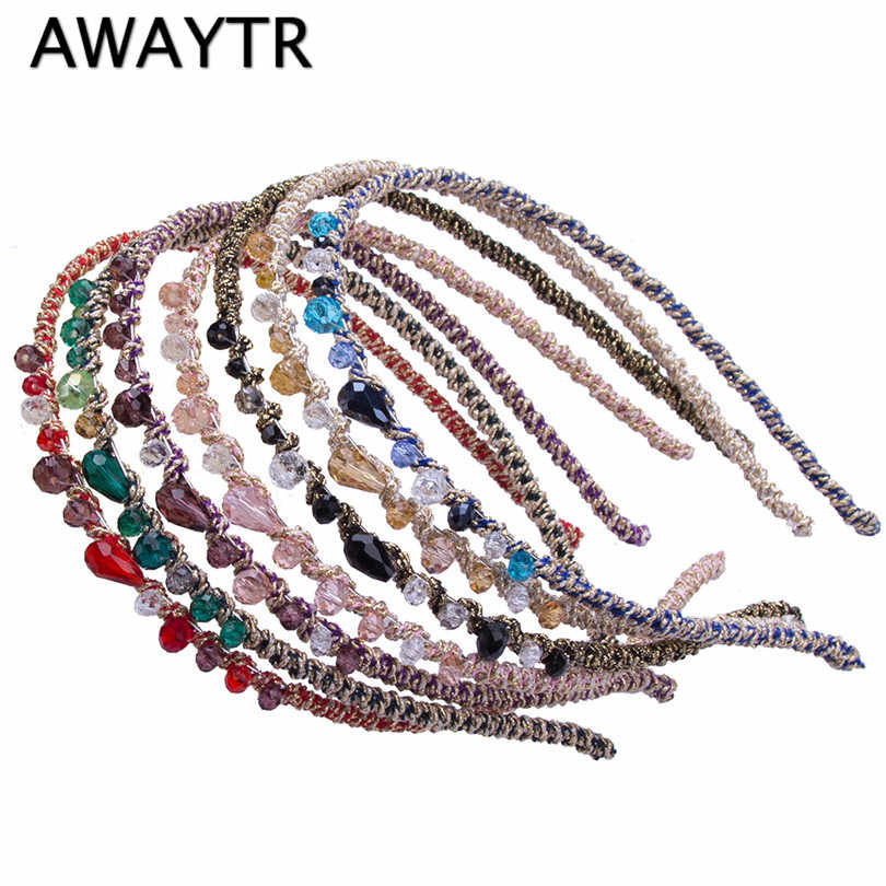 2019 Fashion Barrette Hair Clip for Woman Girl Rhinestone Crystal Headband Barrett Clips For Hair Accessories Headwear
