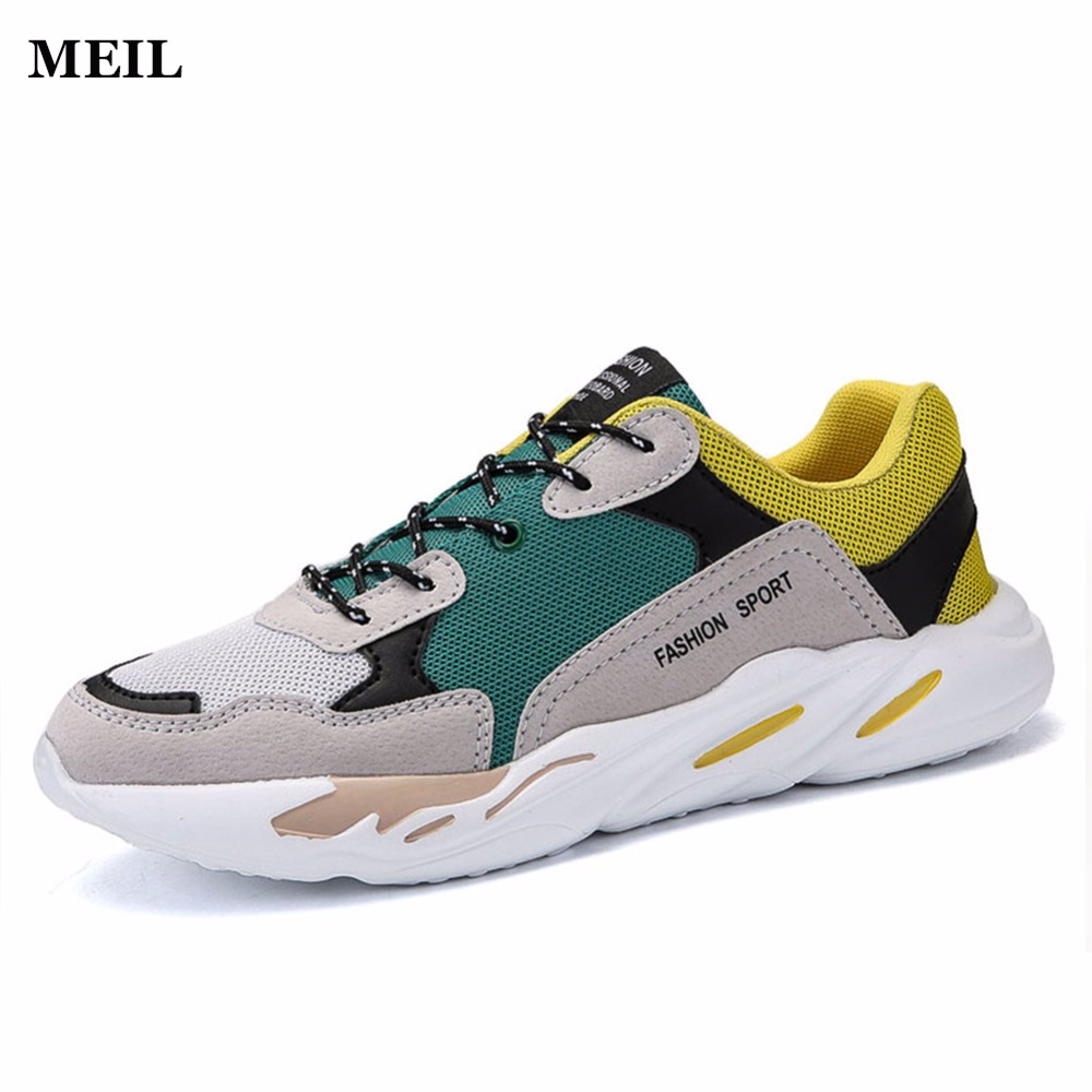 New Causal Shoes Men Lace-up Fashion High Top Flat Shoes Black High Quality Hard-wearing Man Shoes