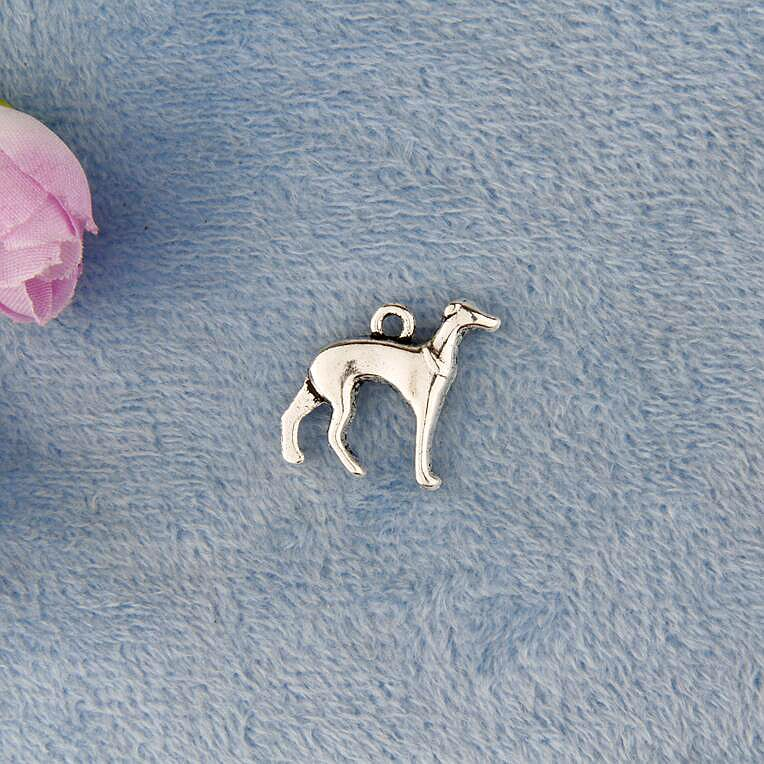 Hot 50pcs Zinc Alloy Plating Silver 20*17MM Greyhound Charms Pendant Fashion Jewelry Accessories Fitting For Women&Men J617