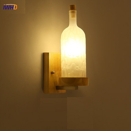 IWHD Creative Bouteille En Verre Applique Murale Simple Moderne LED