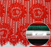 6 Colors Cord Lace Green Red Ivory Black Burgandy Pink High Quality Cord Lace 150 150CM