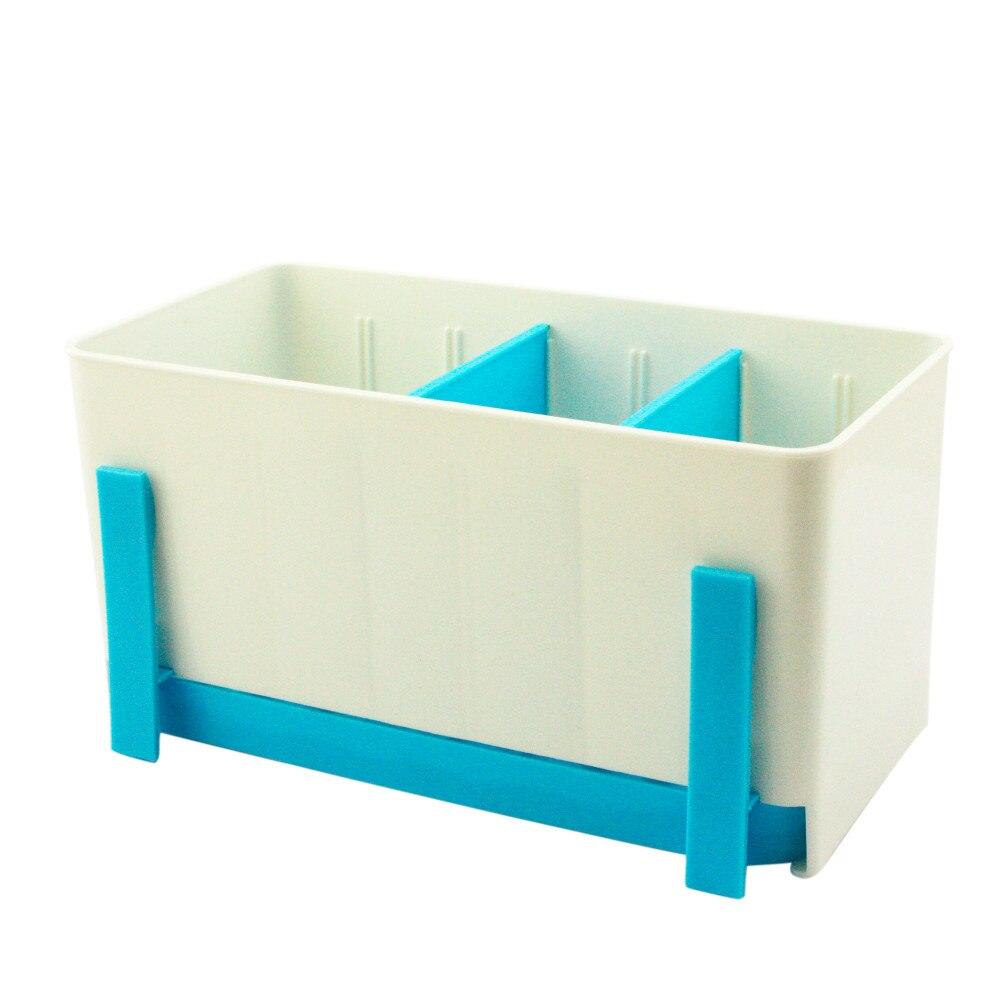 Utensils Holder Rack Caddy Sponge Basket Wash Dry Shelf Cutlery ...