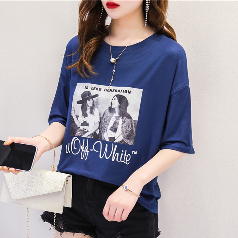 harajuku Vintage character printed T Shirt summer graphic tees Women casual oversized tshirt hipster cool ladies all-match tops