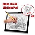 Новый HUION L4S A4 таблетки из светодиодов рисунок планшет свет площадки трекпад живописи пластины планшет + подарок P0014332