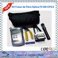 Kit Fusao de Fibra Optica Medidor CFS-2 Decapador Clivador FC-6S 1 mw Caneta Laser