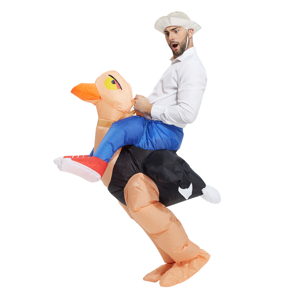 Package mail company creative party school bar radio entertainment funny Walking inflatable ostrich clothing  Halloween partY