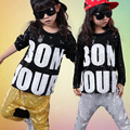 Muchachos de las muchachas de Lentejuelas de Baile Jazz Hip Hop Danza Traje Competencia de Baile de Los Niños Ropa Ropa Camisa Tops Pantalones Conjuntos