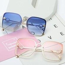 0806922b0c 2018 Luxury Brand F Designer Square Sunglasses Elegant Women Fashion  Gradient Cat Eye Sun glasses Ladies