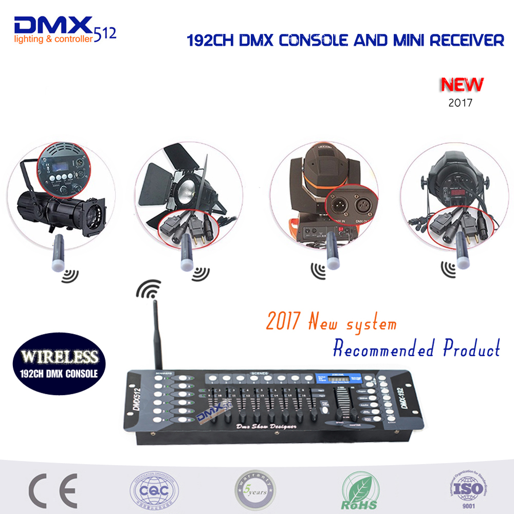Wireless applications! New Arrivals 2.4G Wireless DMX 192Channel console compatibility Wireless DMX512 MINI Receiver Controller wireless