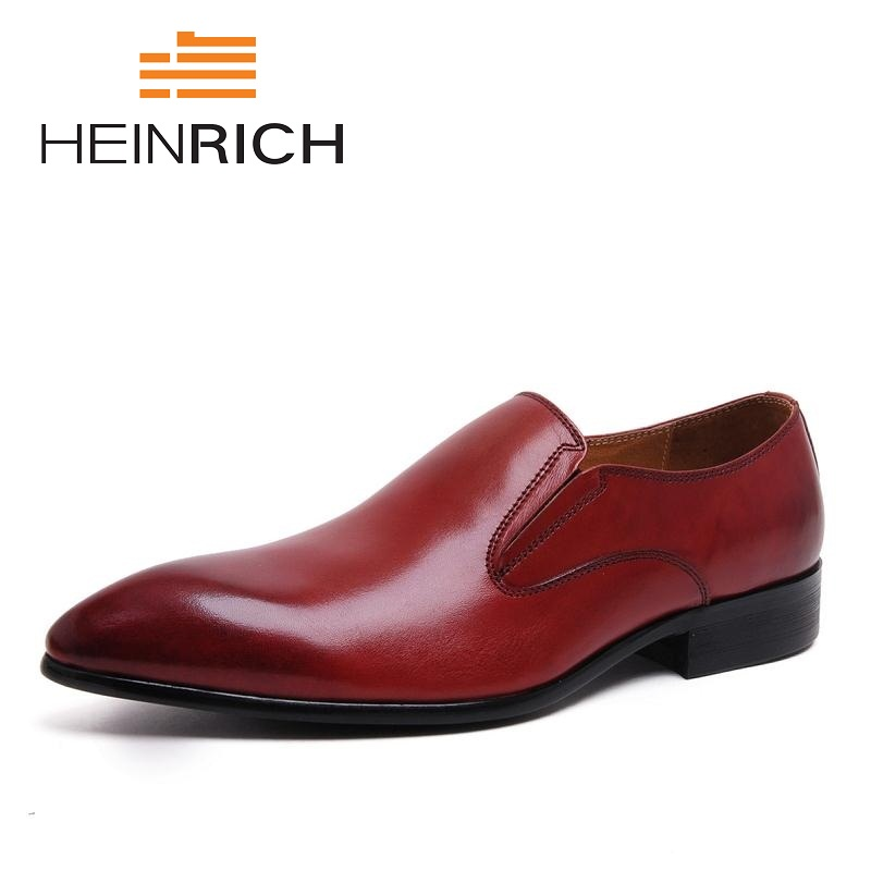 HEINRICH 2018 New Handmade Men Loafers Leather Slippers Men Party And Wedding Dress Shoes Black Mens Flats Zapatos De HombresHEINRICH 2018 New Handmade Men Loafers Leather Slippers Men Party And Wedding Dress Shoes Black Mens Flats Zapatos De Hombres
