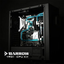 Barrow YR01 FreeShipping Hardtubes CPU Water Cooling Kit, 240mm Radiator, CPU Block, LED Fans,130mm Reservoir, For CPU Cooling syscooling sc cs23 watercooling kit cpu block gpu block northbridge block pump 240 water radiator