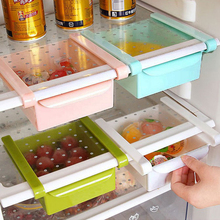 Eco-Friendly Multifunction Kitchen Refrigerator Storage Rack Fridge Freezer Shelf Holder Pull-out Drawer Organiser Space saver