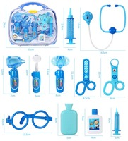 HOGNSIGN Children Day Girls Toys Set 3 6 Year old Girl Babies Plastic Simulated Injection Stethoscope Children Birthday Gifts