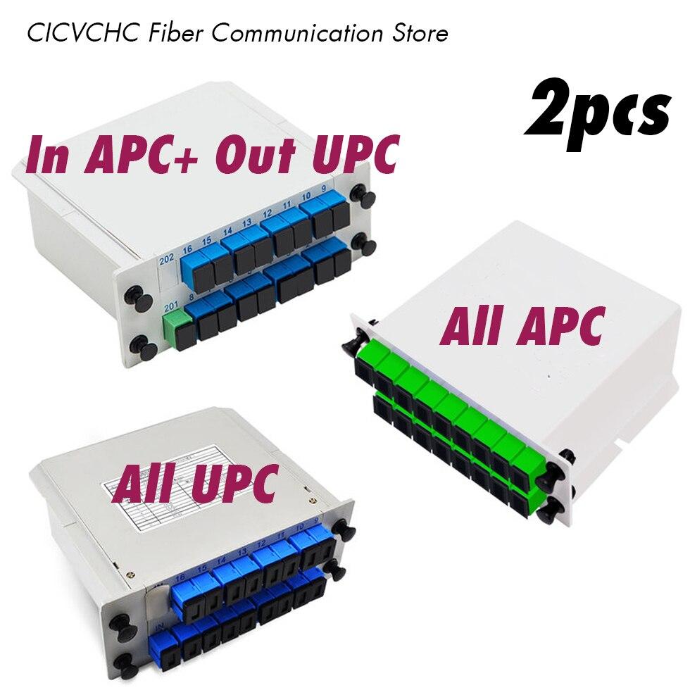 Séparateur de Fiber de PLC de 2 pièces 1x16, Mini Type enfichable, avec l'insertion de carte de connecteur/Cassette de SC