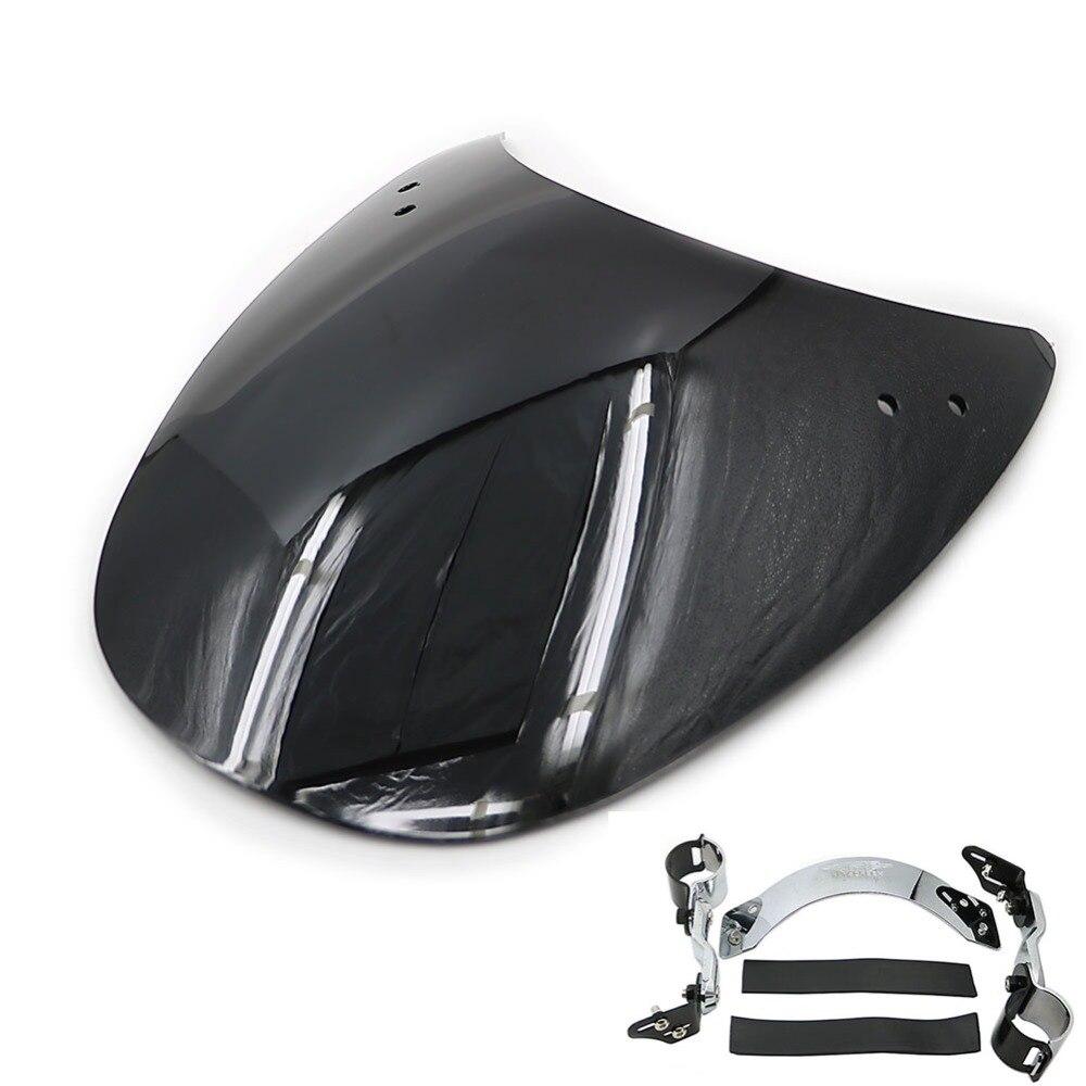 Pour HD H-D Harley Sportster 38-45mm fourches moto pare-brise vent écran déflecteur pare-brise clair noir