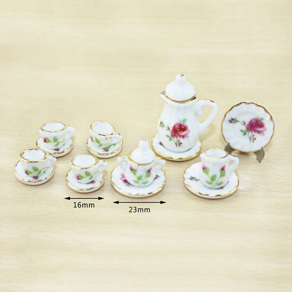 1PC Mini Modern Tea Set for Dollhouse  Miniature 1:12