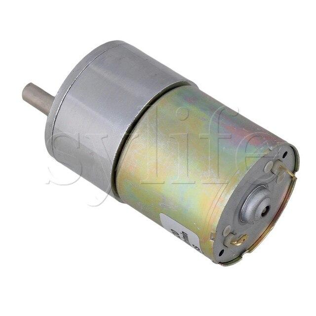 Moteur électrique à couple élevé et à faible bruit   Moteur de réduction de la boîte dengrenages électriques en métal DC 24V 20 RPM