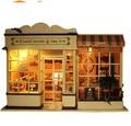 Сборка DIY миниатюрный комплект модель деревянная кукла дом, с легкой музыкой мебель сладкие ягоды время ручной работы деревянные игрушки