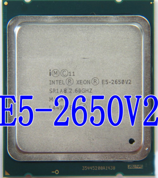 Intel Xeon Processor CPU Core E5-2650v2 SR1A8 Can-Work Octa title=