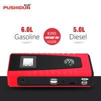 PUSHIDUN Two USB 12000mAh Starting Device Protable Jump Starter Charger Battery 12v Power Bank Booster Buitl