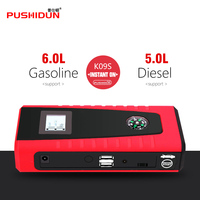PUSHIDUN Two USB 12000mAh Starting Device Protable Jump Starter Charger Battery 12v Power Bank Booster Buitl