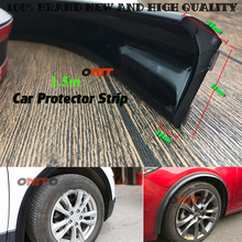 Rubber Soft Black Car Rear Spoiler 36mm Width 1.5m Length Exterior Rear Spoiler wheel for Volvo Mazda Rover Lexus Jeep Buick  vw