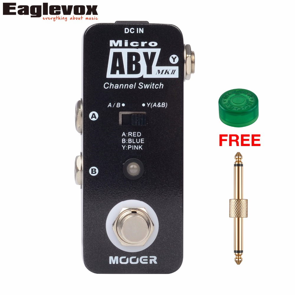 Mooer Micro ABY Channel Switch Effects Electric Guitar Effect Pedal True bypass with Free Connector and Footswitch Topper MAB1 стоимость