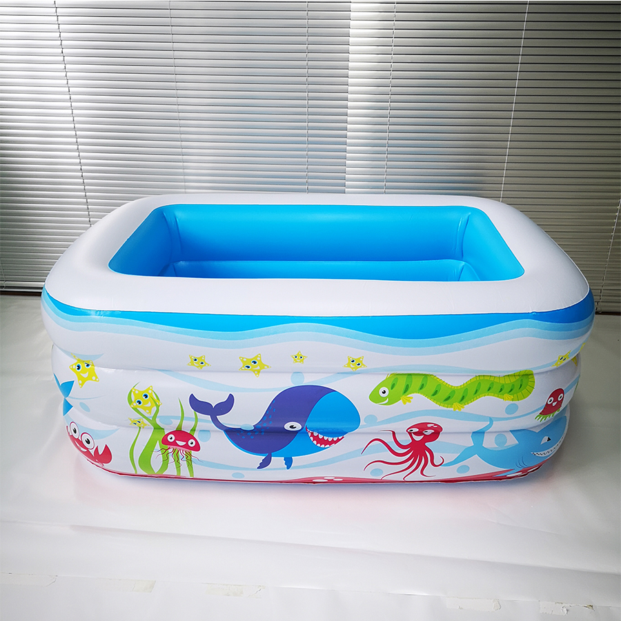 PVC Plastic Rectangular Inflatable Bottom Children's Inflatable Pool Tub Insulation Children's Play Pool Ball Pool