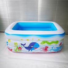 PVC Plastic rectangular Inflatable bottom children's inflatable pool tub insulation children's play pool ball pool все цены