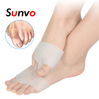 Sunvo Silicone Hallux Valgus Orthotics Insoles Toe Separator Insole Toe Correction Cushion Forefoot Care Pads Apply to Bunonia